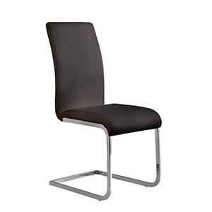 Black Amanda Side Chair Set of Two