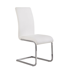 White Amanda Side Chair Set of Two