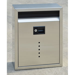 Ecco Brushed Stainless Steel Large Mailbox