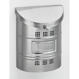 Polished Stainless Steel Large Mailbox with Steel Label