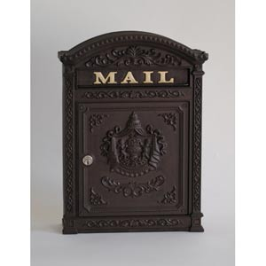 Brown Aluminum Mailbox