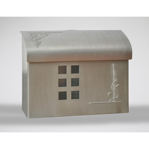 Satin Nickel Mailbox