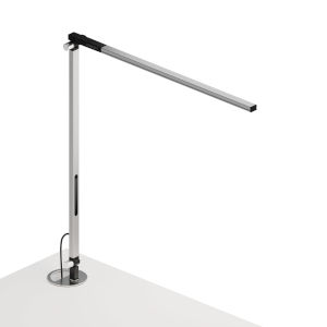 Z-Bar Silver LED Solo Desk Lamp with Grommet Mount