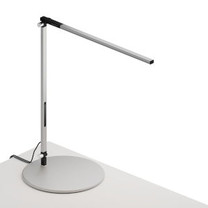 Z-Bar Silver LED Solo Desk Lamp with Usb Base