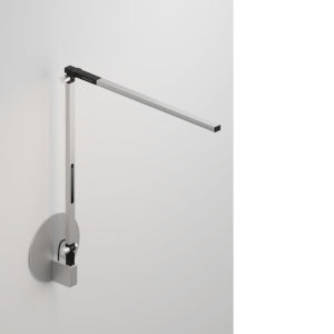 Z-Bar Silver LED Solo Mini Desk Lamp with Hardwire Wall Mount