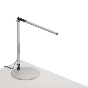 Z-Bar Silver LED Solo Mini Desk Lamp with Usb Base