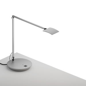 Mosso Silver LED Pro Desk Lamp with Power Base