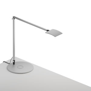 Mosso Silver LED Pro Desk Lamp with Wireless Charging Qi Base