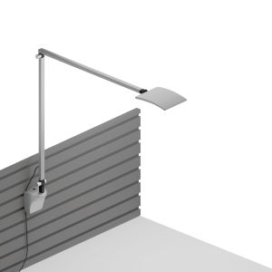 Mosso Silver LED Pro Desk Lamp with Slatwall Mount