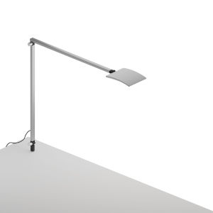 Mosso Silver LED Pro Desk Lamp with Through-Table Mount