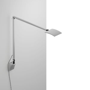 Mosso Silver LED Pro Desk Lamp with Wall Mount