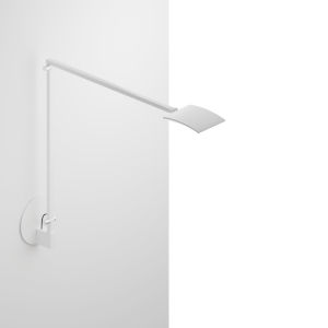 Mosso White LED Pro Desk Lamp with Hardwired Wall Mount
