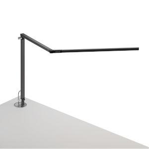 Z-Bar Metallic Black LED Desk Lamp with Grommet Mount