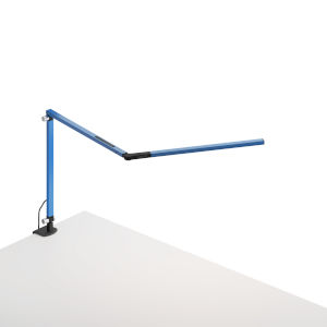 Z-Bar Blue LED Desk Lamp with One-Piece Desk Clamp