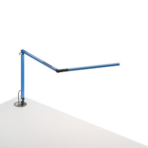 Z-Bar Blue LED Desk Lamp with Grommet Mount