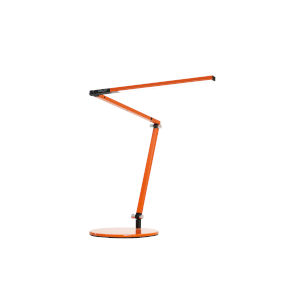 Z-Bar Orange LED Desk Lamp with Two-Piece Desk Clamp
