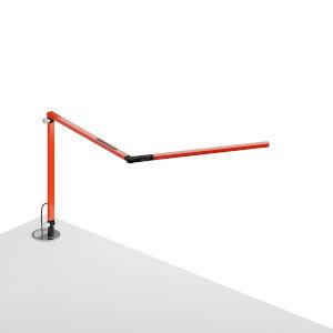 Z-Bar Orange LED Desk Lamp with Grommet Mount