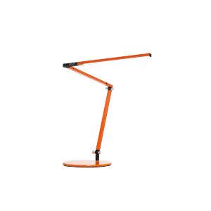 Z-Bar Orange LED Mini Desk Lamp with Metallic Black Hardwire Wall Mount
