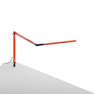 Z-Bar Orange LED Desk Lamp with Through Table Mount