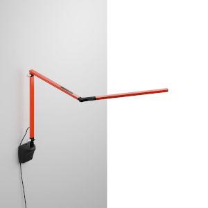 Z-Bar Orange LED Mini Desk Lamp with Metallic Black Wall Mount