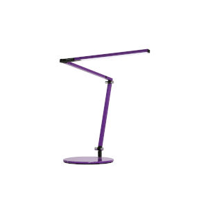 Z-Bar Purple LED Desk Lamp with Two-Piece Desk Clamp