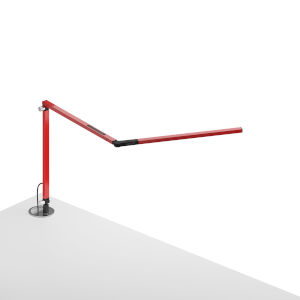 Z-Bar Red LED Desk Lamp with Grommet Mount
