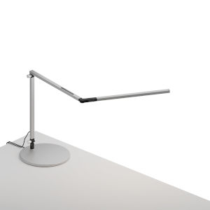 Z-Bar Silver Warm Light LED Mini Desk Lamp with Usb Base