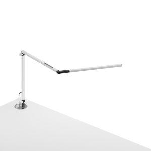 Z-Bar White LED Desk Lamp with Grommet Mount