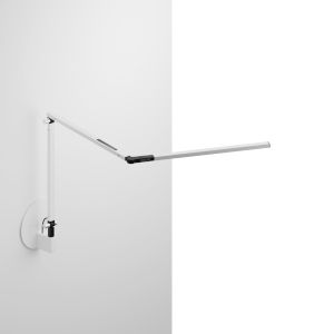 Z-Bar White LED Mini Desk Lamp with Hardwire Wall Mount