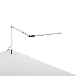Z-Bar White LED Desk Lamp with Through Table Mount