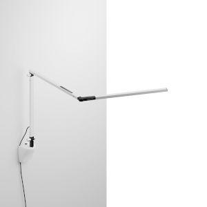 Z-Bar White LED Mini Desk Lamp with White Wall Mount