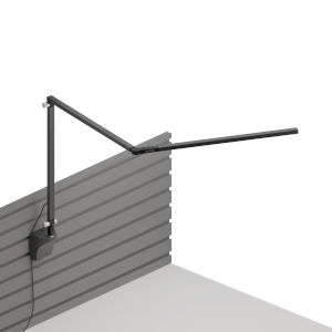 Z-Bar Metallic Black LED Slim Desk Lamp with Slatwall Mount
