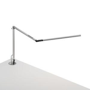 Z-Bar Silver LED Slim Desk Lamp with Grommet Mount