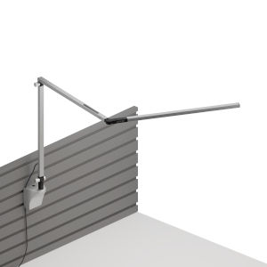 Z-Bar Silver LED Slim Desk Lamp with Slatwall Mount