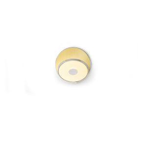 Gravy Chrome Brushed Brass LED Hardwire Wall Sconce