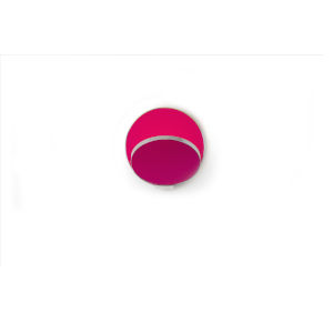 Gravy Chrome Matte Hot Pink LED Plug-In Wall Sconce