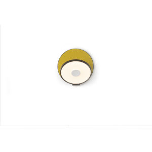 Gravy Metallic Black Honeydew LED Plug-In Wall Sconce