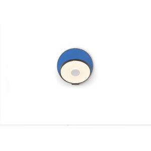 Gravy Metallic Black Matte Blue LED Plug-In Wall Sconce