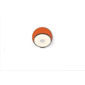 Gravy Metallic Black Matte Orange LED Plug-In Wall Sconce