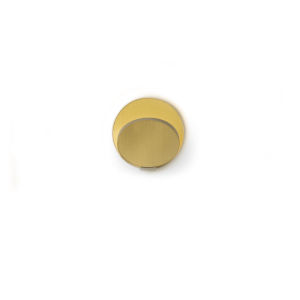 Gravy Silver Brushed Brass LED Hardwire Wall Sconce