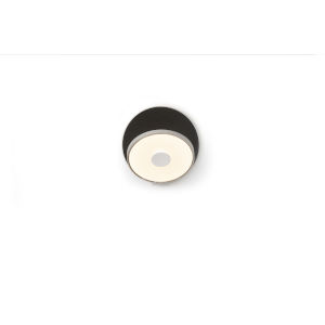 Gravy Silver Metallic Black LED Plug-In Wall Sconce