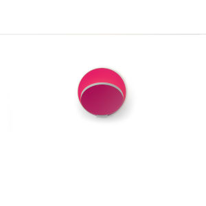Gravy Silver Matte Hot Pink LED Plug-In Wall Sconce