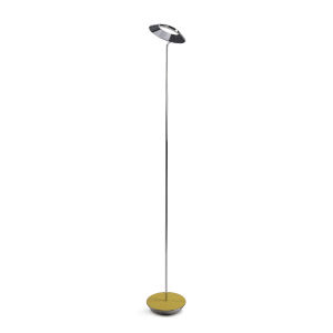 Royyo Chrome and Honeydew LED Floor Lamp