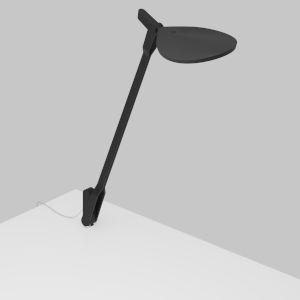 Splitty Matte Black LED Desk Lamp with Through Table Mount