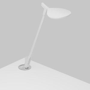 Splitty Matte White LED Desk Lamp with Grommet Mount