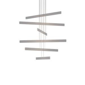 Sub Silver Circular Six LED Pendant