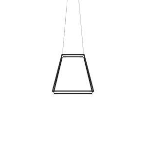 Z-Bar Matte Black 18-Inch Soft Warm LED Square Pendant