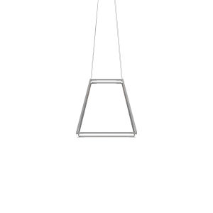 Z-Bar Silver 18-Inch Soft Warm LED Square Pendant