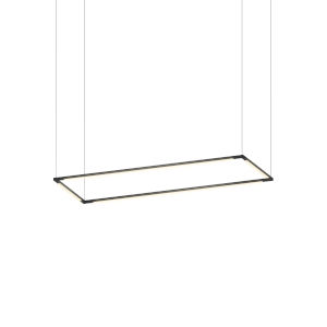 Z-Bar Matte Black 12 x 36 Inch Rectangle LED Pendant