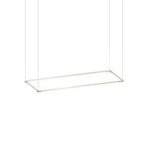 Z-Bar Silver 12 x 36 Inch Rectangle LED Pendant